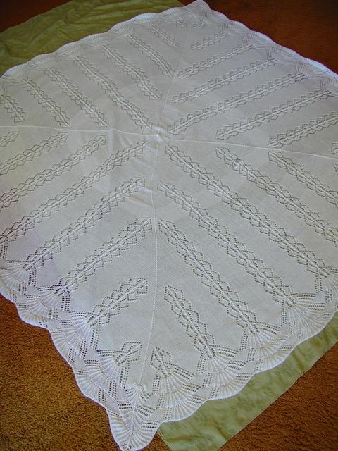 Knitting Patterns For Christening Shawls : Christening Shawl and Gown